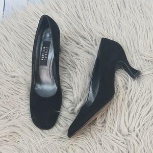 Stuart Weitzman Classic Black Suede Heels size 9